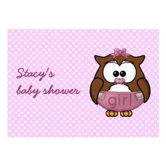 baby girl owl large business card