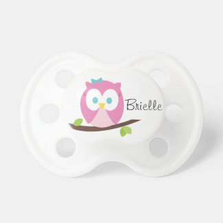 Baby Girl Owl on a Branch BooginHead Pacifier