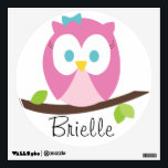 """Baby Girl Owl on a Branch Wall Decal<br><div class=""""desc"""">Add a personal touch to your little one&#39;s room with this cute wall decal.</div>"""