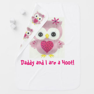 Baby Girl Owl Personalized Blanket