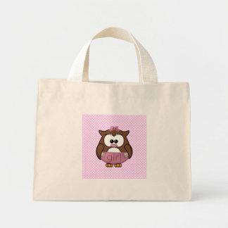 baby girl owl tote bags