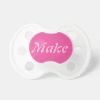 Baby Girl Pacifier: Dark Pink Pacifier