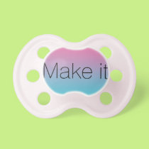 Baby Girl Pacifier: Pink Turquoise Ombre Pacifier