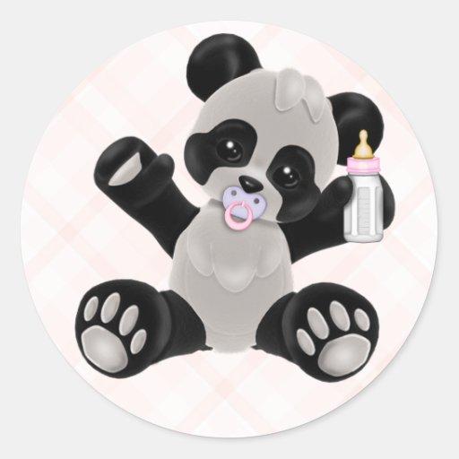 Baby Girl Panda Bear Stickers Zazzle