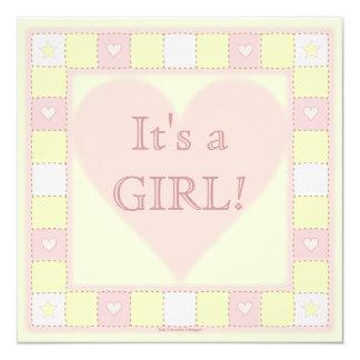 Baby Girl Patchwork Quilt Baby Shower Invitation