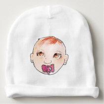 baby girl pattern kid baby beanie