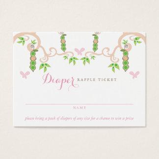 Baby Girl Pea In A Pod Garden Diaper Raffle Ticket