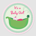 Baby Girl Pea Pod Cupcake Toppers & Stickers