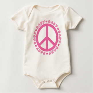 Baby Girl Peace Sign Infant One Piece Tee