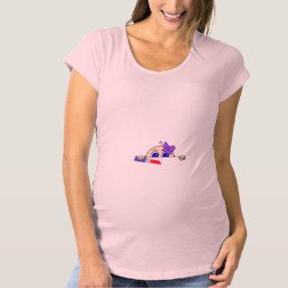 Baby Girl Peeking Maternity Maternity T-Shirt