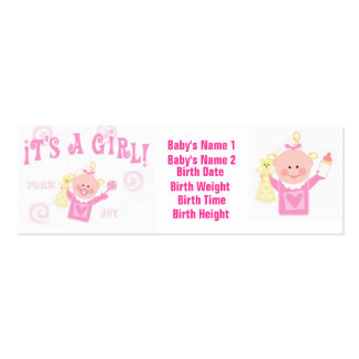 Baby Girl Personailzed Photo Announcement Card Business Card Templates