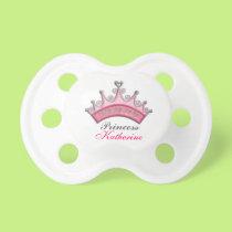 Baby Girl Personalized Princess Tiara Pacifer Pacifier