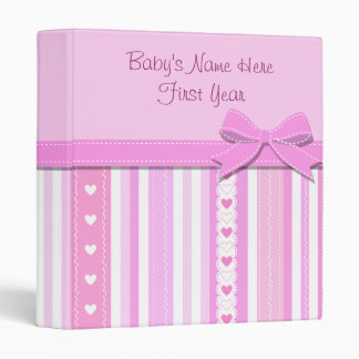 Baby Girl Photo Album 3 Ring Binder
