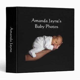 Baby Girl photo album black custom photo binder