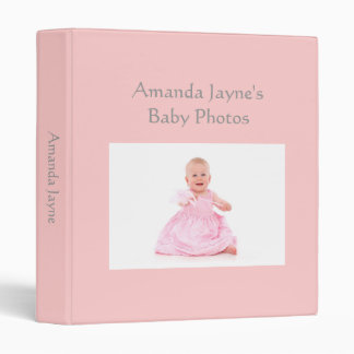 Baby Girl photo album pink custom photo binder