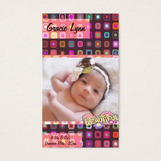 Baby Girl Photo Keepsake Business Card