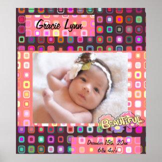 Baby Girl Photo Keepsake Poster