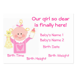 Baby Girl Photo Personalized  Announcement Card