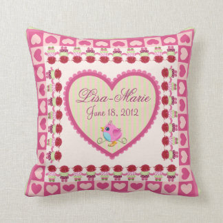 Baby-girl pillow with Name and Date of birth