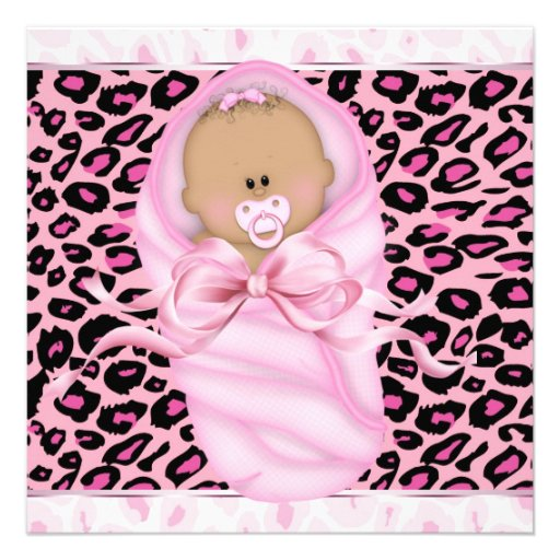 Pink Leopard Baby Shower Invitations, 291 Pink Leopard Baby Shower