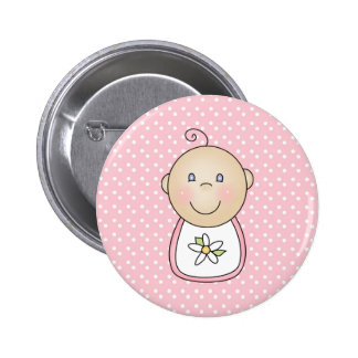 Baby Girl Pink Pinback Buttons