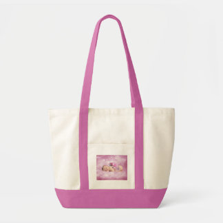 Baby girl pink clouds fantasy tote bag