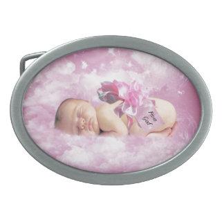 Baby girl pink clouds fantasy belt buckle
