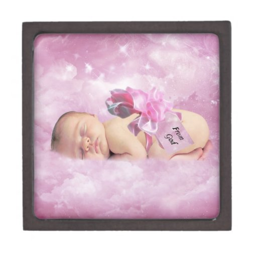 Baby Girl Gift Box : Baby girl pink clouds fantasy gift box premium boxes