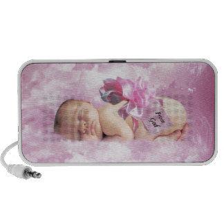 Baby girl pink clouds fantasy mini speaker