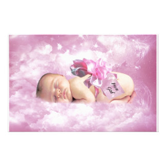 Baby girl pink clouds fantasy stationery