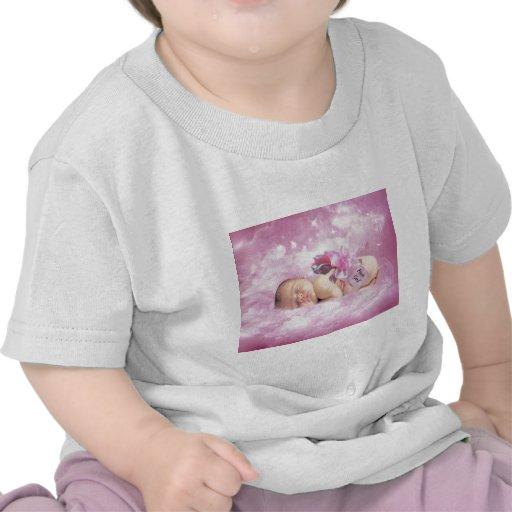 Baby girl pink clouds fantasy tshirts