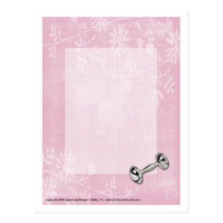 Baby Girl Pink Flowers Postcard