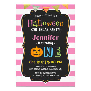 halloween birthday invitations zazzle