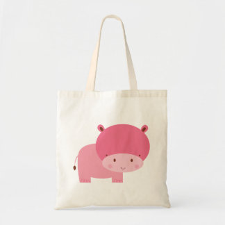 Baby Girl Pink Hippo Tote Bags
