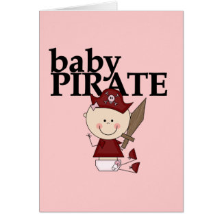 Baby Girl Pirate With Sword Tshirts and Gifts Card