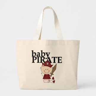 Baby Girl Pirate With Sword Tshirts and Gifts Large Tote Bag
