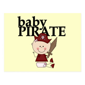 Baby Girl Pirate With Sword Tshirts and Gifts Postcard