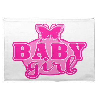 Baby Girl Cloth Place Mat
