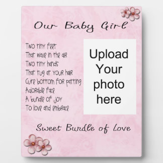 Baby Girl Plaque - Customize with your photo!!