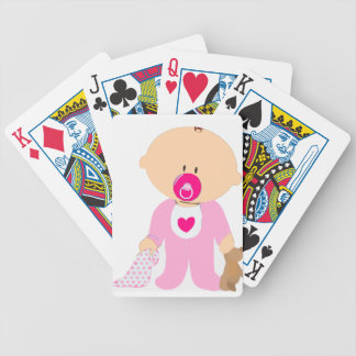 Baby Girl Bicycle Playing Cards
