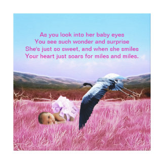 Baby Girl poem Gallery Wrapped Canvas