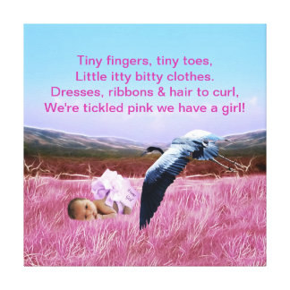 Baby Girl poem Gallery Wrap Canvas