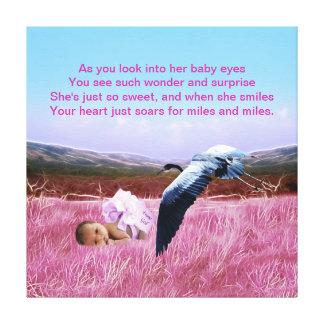 Baby Girl poem Canvas Print