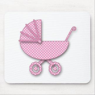 baby girl polka dot mouse pad
