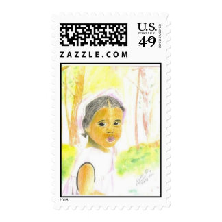 Baby Girl Postage Stamp