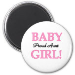 Baby Girl Proud Aunt 2 Inch Round Magnet