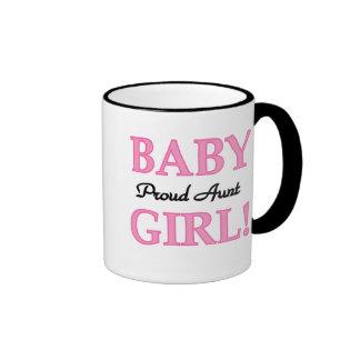 Baby Girl Proud Aunt Ringer Mug