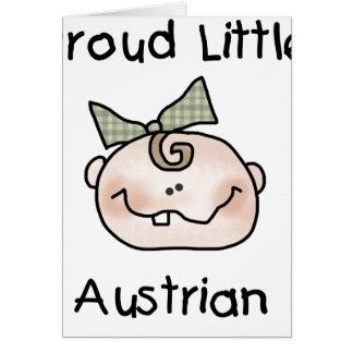 Baby Girl Proud Austrian Card