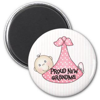 Baby Girl Proud Grandma 2 Inch Round Magnet