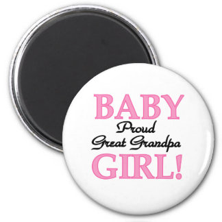 Baby Girl Proud Great Grandpa Magnets